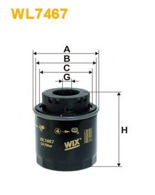 Масляный фильтр WIX FILTERS WL7467