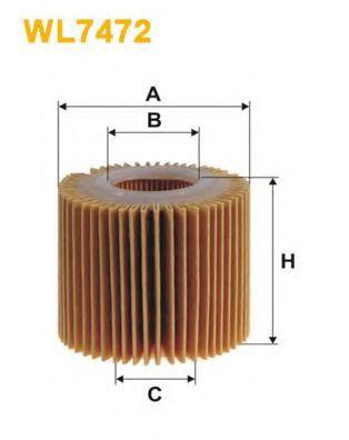 Масляный фильтр WIX FILTERS WL7472