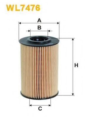 Масляный фильтр WIX FILTERS WL7476
