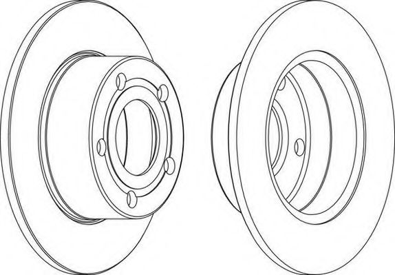 Тормозной диск WAGNER WGR0321-1