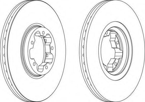 Тормозной диск WAGNER WGR1113-1