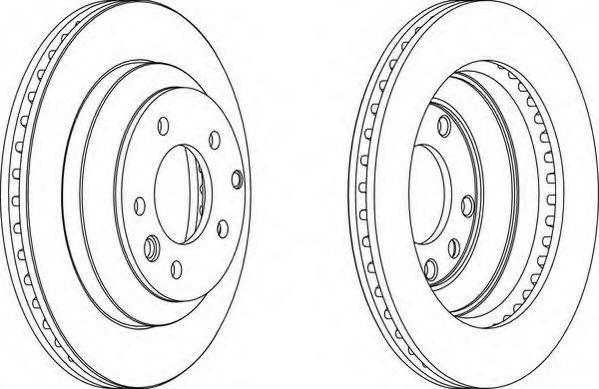 Тормозной диск WAGNER WGR1580-1