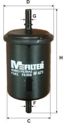 Топливный фильтр MFILTER BF 671