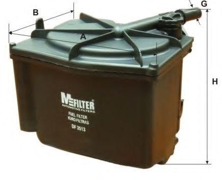 Топливный фильтр MFILTER DF 3513