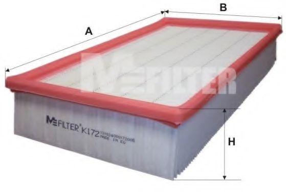 Воздушный фильтр MFILTER K 172
