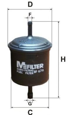 Топливный фильтр MFILTER BF 676