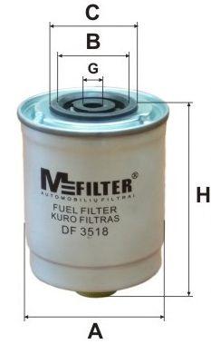 Топливный фильтр MFILTER DF 3518