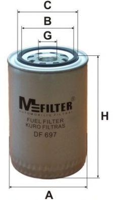 Топливный фильтр MFILTER DF 697