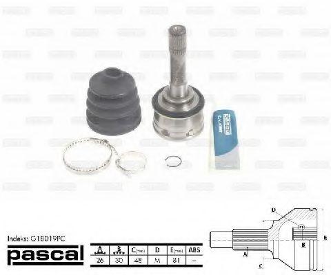 Комплект ШРУСов PASCAL G18019PC