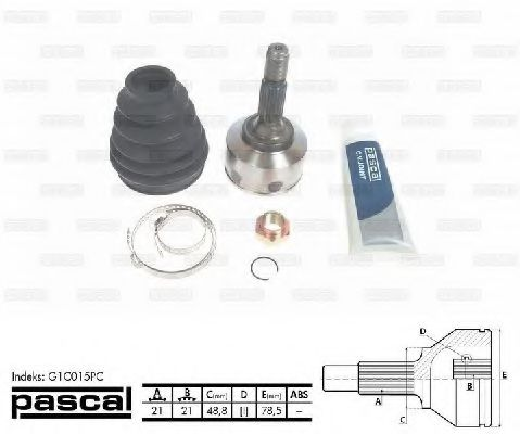 Комплект ШРУСов PASCAL G1C015PC