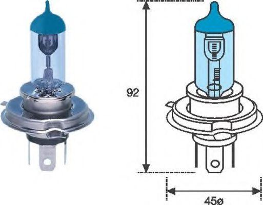 Лампа накаливания MAGNETI MARELLI 002602100000 (фара дальнего света, основная фара)