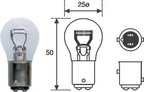 Лампа накаливания MAGNETI MARELLI 008528100000 (фонарь сигнала торможения, стояночные огни / габаритные фонари)