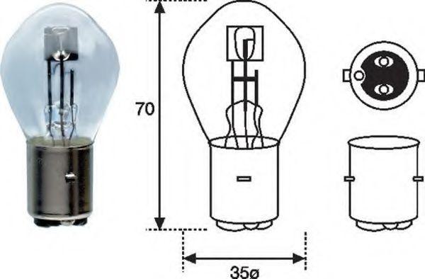 Лампа накаливания MAGNETI MARELLI 002588100000 (фара дальнего света, основная фара)