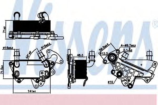 Масляный радиатор, автоматическая коробка передач NISSENS 90732